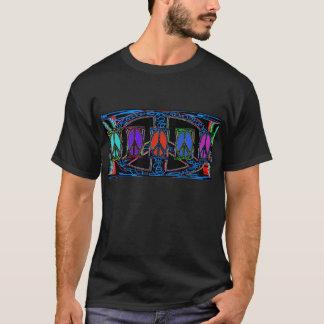Squiggleのピースサイン Tシャツ