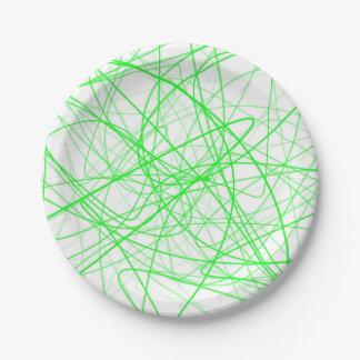 Squiggleの緑 ペーパープレート