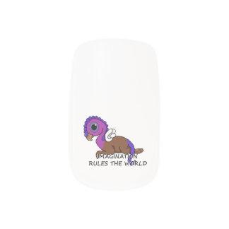 Squiteの紫色及び青の想像は世界を支配します ネイルアート