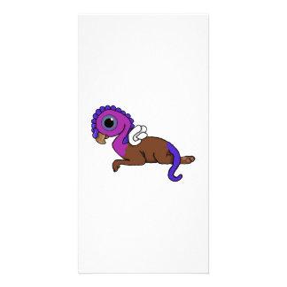 Squite紫色及び青に小型にGryphonの置くこと カード