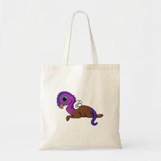 Squite紫色及び青に小型にGryphonの置くこと トートバッグ