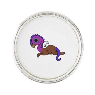 Squite紫色及び青に小型にGryphonの置くこと ラペルピン