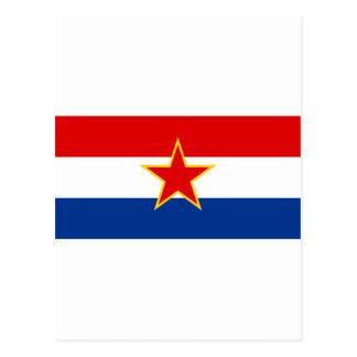 SRクロアチアの旗 葉書き