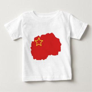 SRマケドニアの旗の地図 ベビーTシャツ