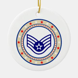 SrA E-4空軍年長のパイロット セラミックオーナメント