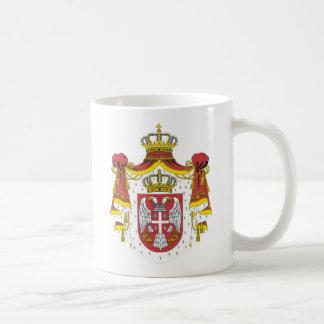 Srbija Grb/セルビアの紋章付き外衣 コーヒーマグカップ