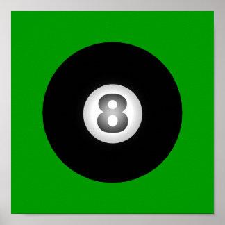SRFによるビリヤード8の球 ポスター