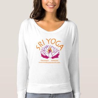 Sriのflowy白く長い袖 Tシャツ