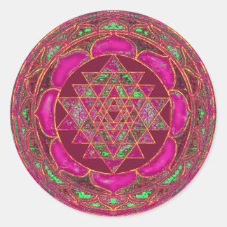 Sri Lakshmi Yantraの曼荼羅 ラウンドシール