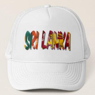 Sri Lanka Word With Flag Texture Trucker Hat キャップ