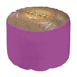 Sri Yantraの紫色の太陽のPouf プーフ