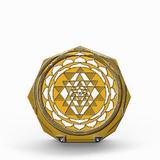 Sri Yantraの青銅 表彰盾