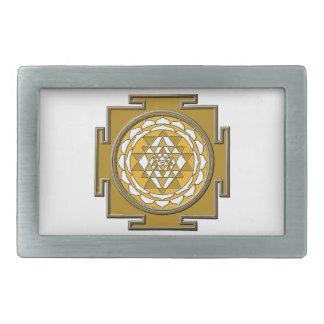 Sri Yantraの青銅 長方形ベルトバックル