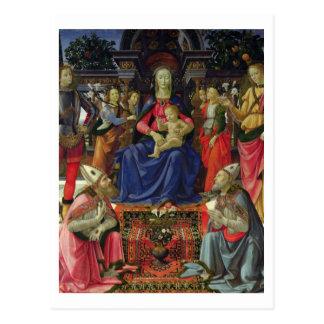 SSを持つマドンナそして子供。 Justus、ZenobiusおよびTh ポストカード