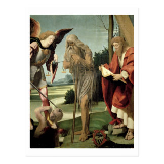 SS. ミハエル、アンドリューおよびOnuphrius (パネルの油) ポストカード