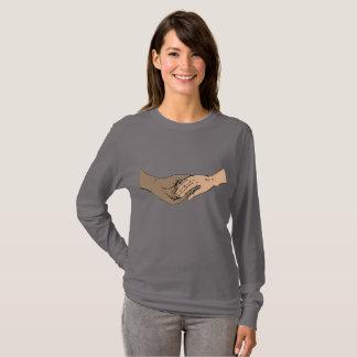 SSAはクラシックな灰色の長袖を渡します Tシャツ
