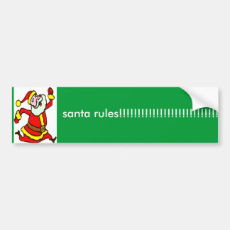 sssssssssssssssssssssssssssssss、サンタの規則!!! … バンパーステッカー
