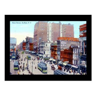 Stのバッファローのニューヨークの主要な1913年のヴィンテージ ポストカード