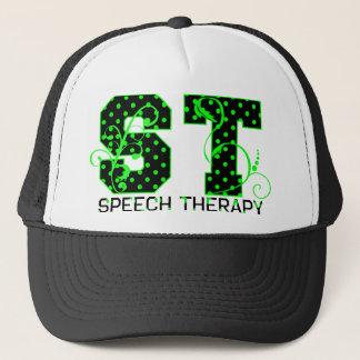 stの緑および黒い水玉模様 キャップ