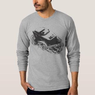 """STの""""傷付けられた"""" Long-sleeved長袖シャツ Tシャツ"""