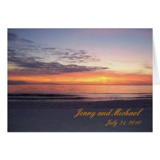 stジョーのビーチ、ジェニーおよびミハエル、2010年7月31日 カード