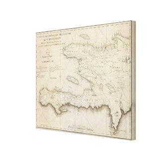 Stドミンゴのフランスのな部品の地図 キャンバスプリント