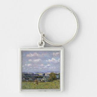 St雲のセーヌ河のアルフレッド・シスレー|の谷 キーホルダー