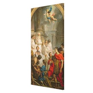 St.のベズル(キャンバスの油)の固まり キャンバスプリント