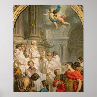 St.のベズル(キャンバスの油)の固まり ポスター