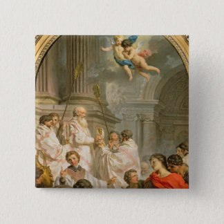 St.のベズル(キャンバスの油)の固まり 5.1cm 正方形バッジ