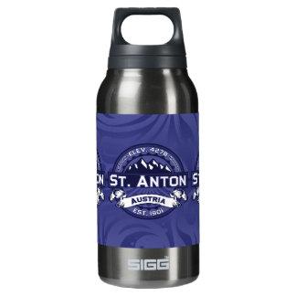 St.アントンのロゴの真夜中 断熱ウォーターボトル