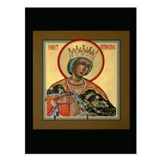St.キャサリンの祈りの言葉カード ポストカード