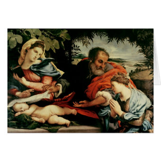 St.キャサリンを持つ神聖な家族の カード