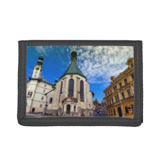 St.キャサリン、Banska Stiavnica、スロバキアの教会 ナイロン三つ折りウォレット
