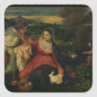 St.キャサリンc. 1530年を持つマドンナそして子供 スクエアシール