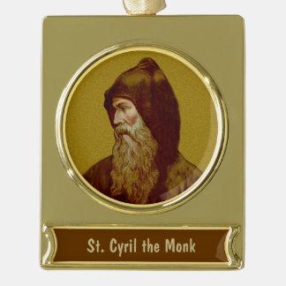 St.シリル修道士(M 002) ゴールドプレートバナーオーナメント