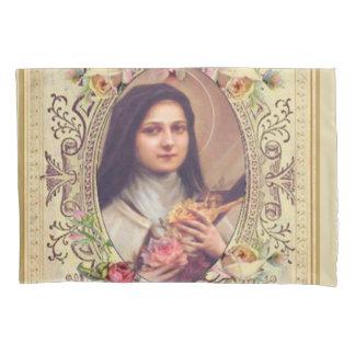 St.テレーズ小さい花のバラの十字架像 枕カバー