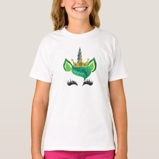 St.ハンバーグのグリッターのユニコーンのワイシャツ Tシャツ