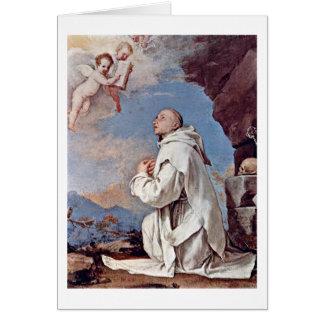 St.ブルーノJusepe De Ribera著Carthusian カード