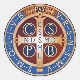 St.ベネディクトの魔除けメダルステッカー ラウンドシール