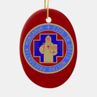 St.ベネディクトメダルの前部および背部顔ように セラミックオーナメント