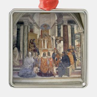 St.ベネディクト(フレスコ画)の生命(詳細) メタルオーナメント