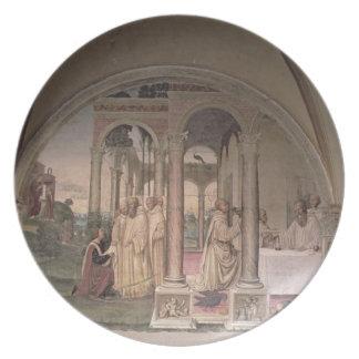 St.ベネディクト(フレスコ画) (詳細)の生命3 プレート