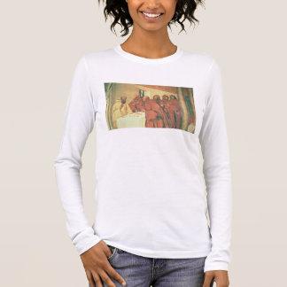 St.ベネディクト(fの生命からの聖餐を、取ります 長袖Tシャツ