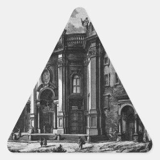 St.マリアのバシリカ会堂の正面の眺め 三角形シール