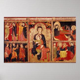 St.マリアdeアビラの祭壇の背後の飾り ポスター