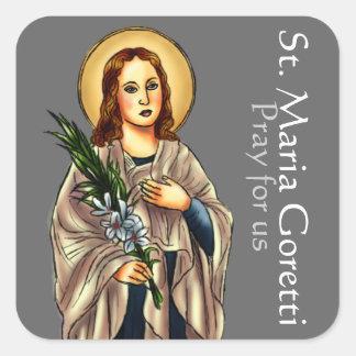 St.マリアGorettiの正方形のステッカー スクエアシール