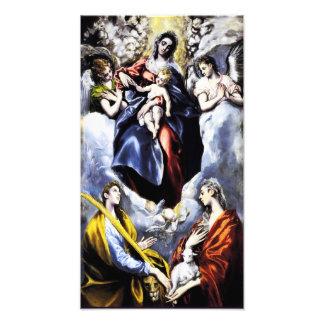 St.マルチナの写真のプリントを持つヴァージンそして子供 フォトプリント