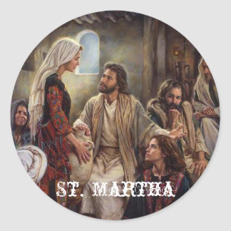 St.マーサのステッカー ラウンドシール