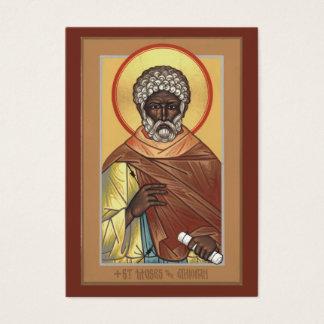 St.モーゼエチオピアの小型祈りの言葉カード 名刺